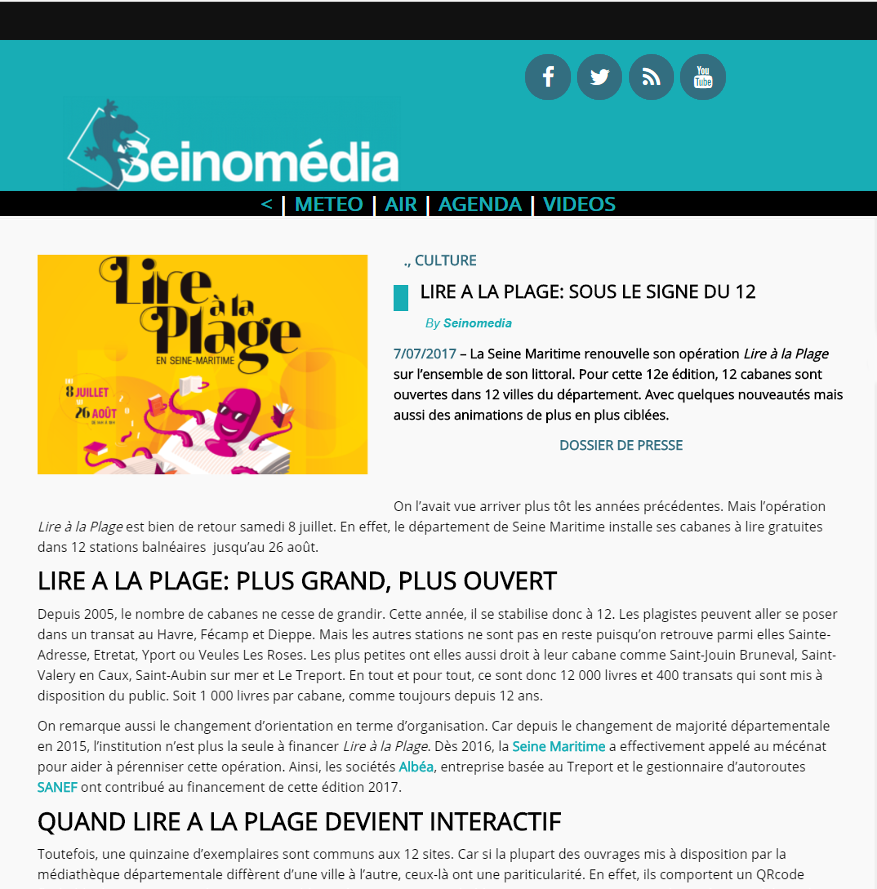 Seinomedia – Capture d'écran