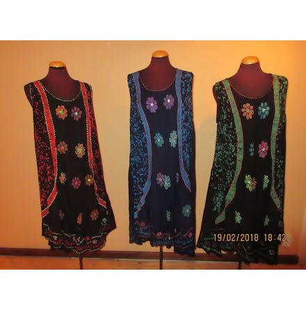 Dress 105 cm - Handembroidery, utan ärm, AD-1810 W/S