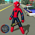 Mafia Spider Stickman Rope Hero Vegas Gangster icon