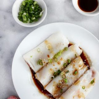 Rice Noodle Rolls 豬腸粉 (Chee Cheong Fun).