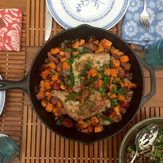 Cast Iron Chicken and Sweet Potatoes