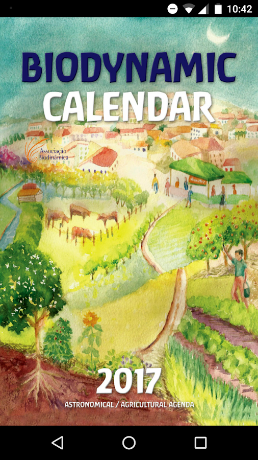 Biodynamic Calendar 2017- screenshot
