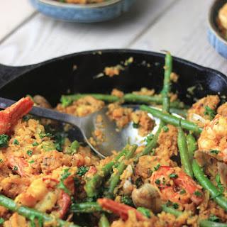 Keto Paleo Seafood Paella.