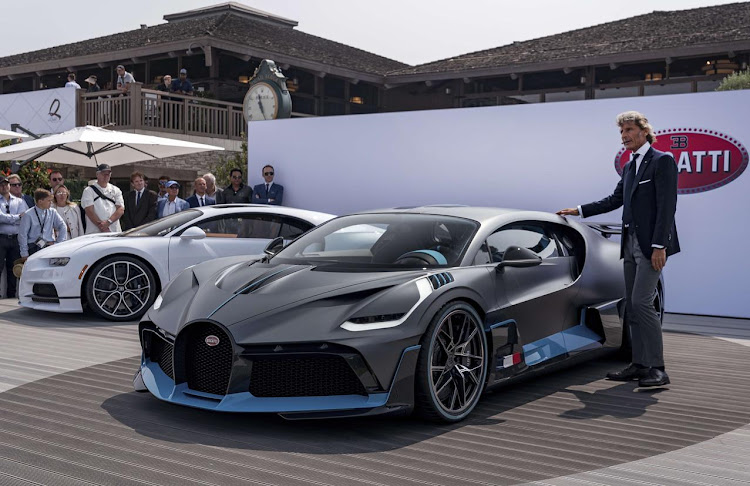 Bugatti president Stephan Winkelmann revealed the Divo at Monterey in California. Picture: SUPPLIED