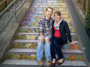 Photo: Steps supporters sitting near their tile on the Hidden Garden Steps (16th Avenue, between Kirkham and Lawton streets in San Francisco's Inner Sunset District) on February 16, 2014  For more information about the Steps, please visit our website (http://hiddengardensteps.org), view links about the project from our Scoopit! site (http://www.scoop.it/t/hidden-garden-steps), or follow our social media presence on Twitter (https://twitter.com/GardenSteps), Facebook (https://www.facebook.com/pages/Hidden-Garden-Steps/288064457924739) and many others.