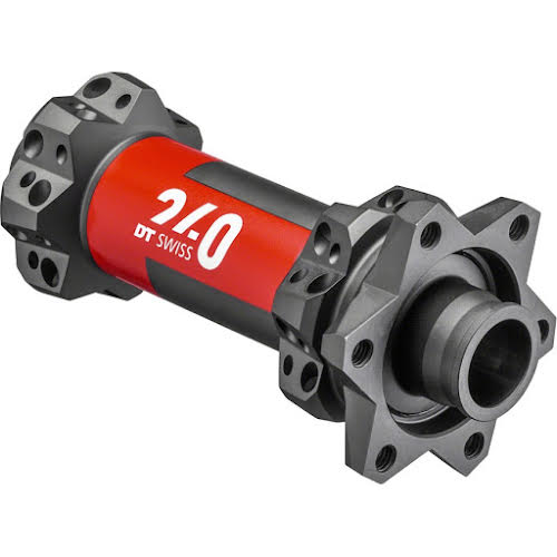 DT Swiss 240 EXP Front Hub - 15 x 110mm, 6-Bolt Disc, Straight Pull, 28h, Black/Red