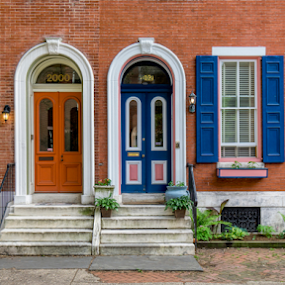 Philly Row by Christopher Pischel - Buildings & Architecture Other Exteriors ( doors, home, classical, facade, row house, residential, brick, windows, historic )