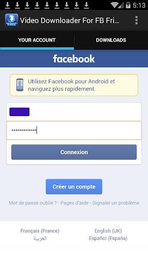 Facebookのビデオのダウンローダ