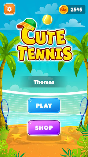 Cute Tennis Top Spin Master Challenge android2mod screenshots 1