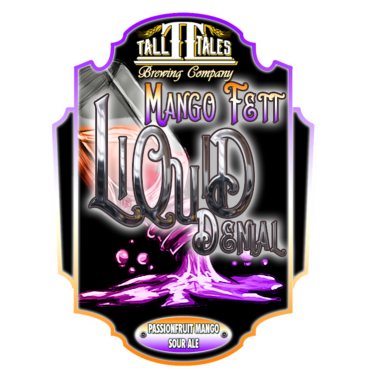 Logo of Tall Tales Liquid Denial - Mango Fett - Passion Fruit Mango Sour