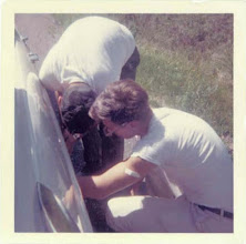 Photo: Tire Trouble on Yom Chofesh Wisconsin 1964