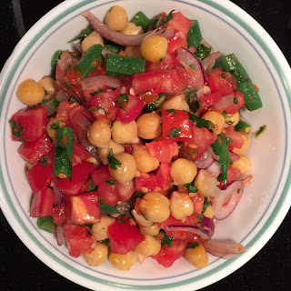 Minty Chickpea, Green Bean, & Tomato Salad