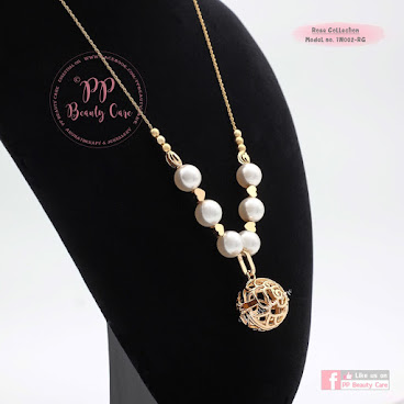 7N002-RG_Rose Collection: 24k Gold essential oil necklace diffuser 玫瑰系列: 24k金精油項鏈