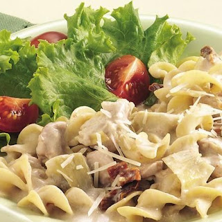 Slow-Cooker Chicken and Noodles Alfredo.