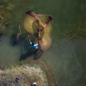 fishing by Shyama Dev - People Professional People ( nature, fishing, net, fisherman )
