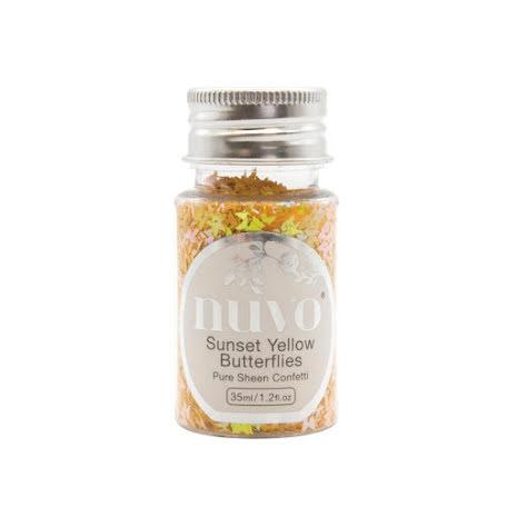 Tonic Studios Nuvo Pure Sheen Confetti 35ml - Sunset Yellow Butterflies 1069N