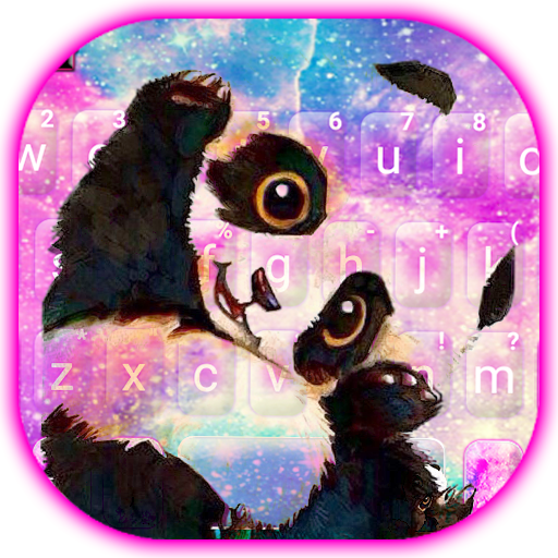 Galaxy Cute Panda Keyboard Theme icon
