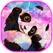 Free Download Galaxy Cute Panda Keyboard Theme APK for Samsung