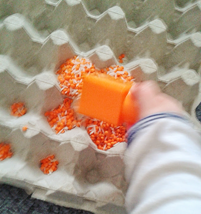 Welcome to Mommyhood: Orange sensory activity