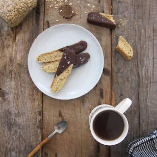 Maple Oat Biscotti with Chocolate & Sea Salt.