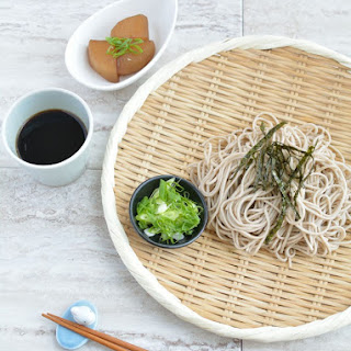 Cold Soba Noodles with Dipping Sauce.