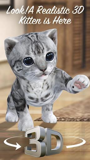 3D Cute Kitty Cat Launcher 4.6.2.4007 screenshots 1
