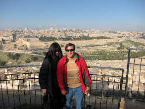 Photo: V and K at the Mount of Olives