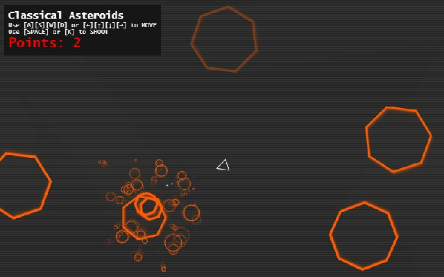 Asteroids - Classical Asteroid Game, Improved