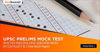 UPSC Mock Test for UPSC Prelims 2019
