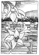 "Photo: ""Smell This"" Georgeson Botanical Garden Pen & Ink Study"