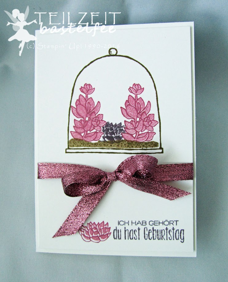 Stampin' Up! – In{k}spire_me #296, Color Challenge, Wunderbare Worte, Suite Sayings, Live Love Grow, InColors, Glitter Ribbon, birthday