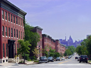 Photo: Union Square view of downtown Baltimore from 1700 block of Hollins St.