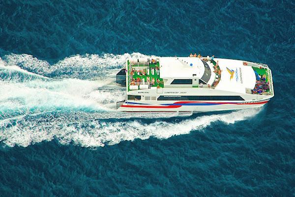 Catamaran cruise to Koh Tao through the Gulf of Thailand