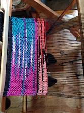 Photo: three color clasped weft