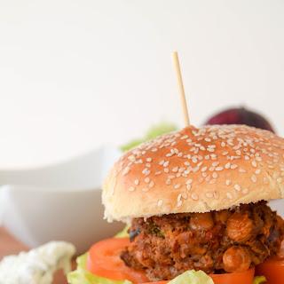 Harissa Spiced Lamb & Chickpea Burgers