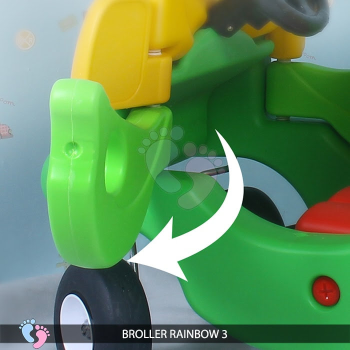 Xe chòi chân Broller Rainbow 3 cho bé 9