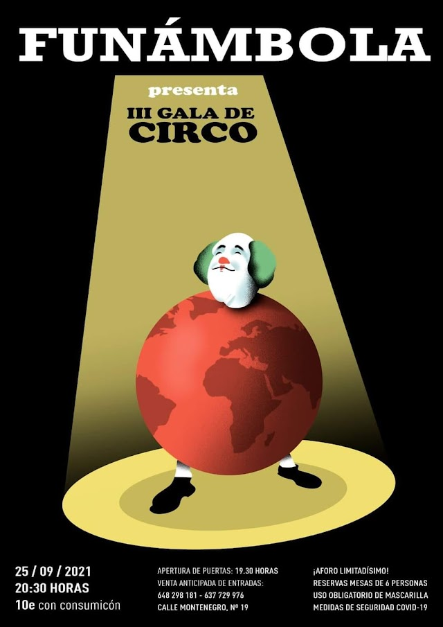 Cartel de la III Gala del Circo de FUNÁMBOLA.