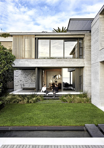One of the key features of this home is the way its creates a sheltered outdoor space – almost like a courtyard house.