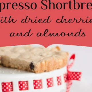 Espresso Shortbread with Dried Cherries and Almonds