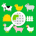 Animals color by number - sandbox coloring book icon