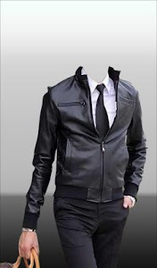 Men Leather Jacket Photo Suit screenshot 14