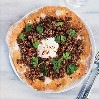 Turkish Ground-Lamb Pizzas.