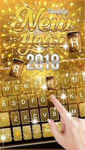 Gold 2018 New Year Keyboard Theme 1.0 Android APK Mod 3