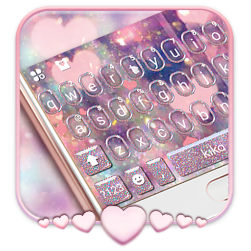 Rose Gold Heart Keyboard Theme Icon