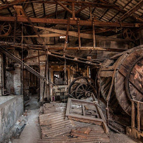 Old machines by Grigoris Koulouriotis - Artistic Objects Industrial Objects ( old, factory, industry, machine, abandoned,  )