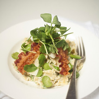 Summer Pasta; Broad Bean, Pea & Parma Ham Recipe