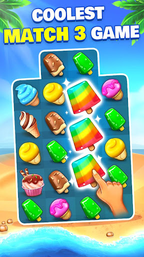 Ice Cream Paradise - Match 3 Puzzle Adventure apktram screenshots 1