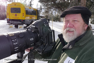 Photo: Larry on the job shooting photos in Yellowstone National Park, Wyoming.