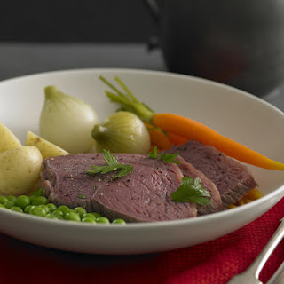 Corned Beef with Potatoes and Vegetables.