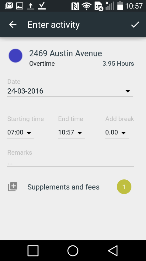 Intempus time registration- screenshot
